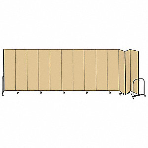 24 ft. 1 in. x 6 ft. 8 in., 13-Panel Portable Room Divider, Beige