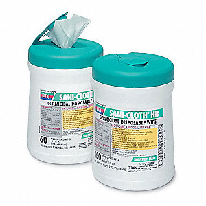 "Disinfecting Wipes, 8 x 14"", 1 EA"