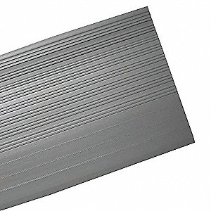 "Gray, Vinyl Stair Tread Cover, Installation Method: Adhesive, Square Edge Type, 36"" Width"