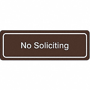 Sign,Acrylic,No Soliciting
