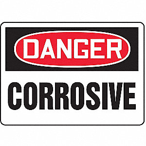 "Chemical, Gas or Hazardous Materials, Danger, Vinyl, 10"" x 14"", Adhesive Surface"