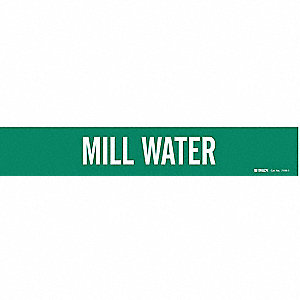 Pipe Markr, Mill Water, Gn, 2-1/2to7-7/8 In