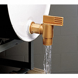 Drum Faucet,3/4 In,Manual,Polyethylene