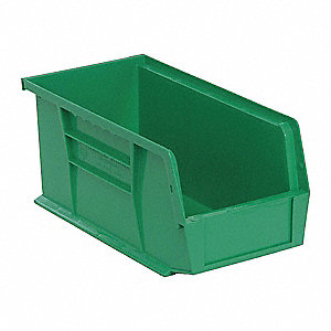 Hang/Stack Bin,10-7/8L x 5-1/2W,Green