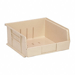 "Hang and Stack Bin, Ivory, 10-7/8"" Outside Length, 11"" Outside Width, 5"" Outside Height"