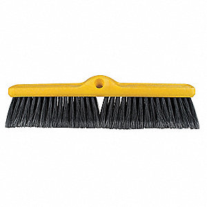 "Polypropylene Push Broom, Block Size 18"", Plastic Foam Block Material"