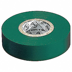 "Green Vinyl Electrical Tape, 3/4"" Width, 22 yd. Length, 7 mil Thickness"