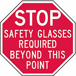 "Personal Protection Sign,12""x12"",Alum"