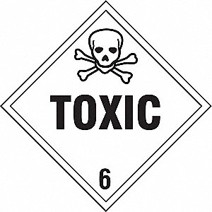 VEHICLE PLACARD,TOXIC WITH PICTO,PK