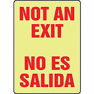 "Spanish-Bilingual Exit Sign,10"" x 7"""