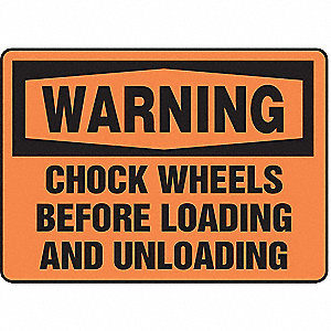 Warning Sign,7 x 10In,BK/ORN,AL,ENG,Text