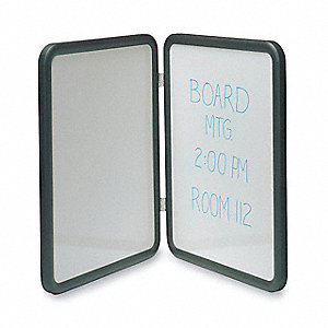 "Gloss-Finish Melamine Dry Erase Board, Wall Mounted, 24""H x 18""W, Black"