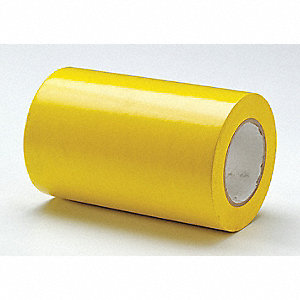 "Safety Warning Tape, Solid, Continuous Roll, 8"" Width, 1 EA"