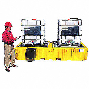 IBC Containment Unit,22 In. H,Yellow