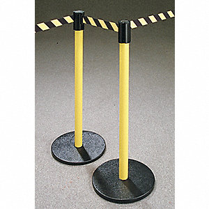 Barrier Post with Belt,40 In. H