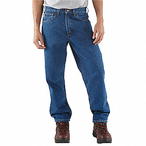 "Men's Relaxed Fit Jeans, 100% Cotton Denim, Color: Darkstone, Fits Waist Size: 40"" x 38"""