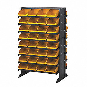 "36"" x 24"" x 60"" Sloped Shelving System with 800 lb. Load Capacity, Blue"