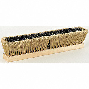 "Styrene Push Broom, Block Size 18"", Medium Bristles Block Material"