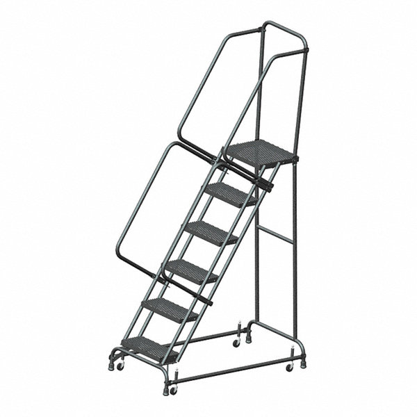 Ballymore 6 Step Rolling Ladder Expanded Metal Step Tread