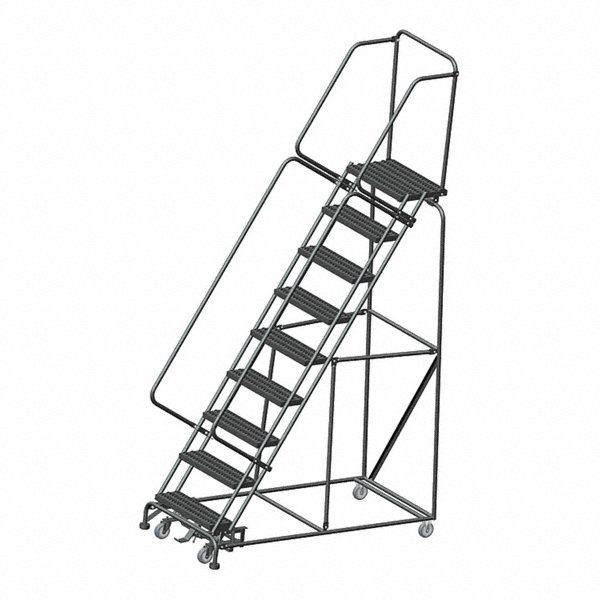 Ballymore 9 Step Rolling Ladder Serrated Step Tread 123