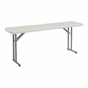 "Rectangle Seminar Table, Light Spotted Gray, 72""W x 18"" Depth"