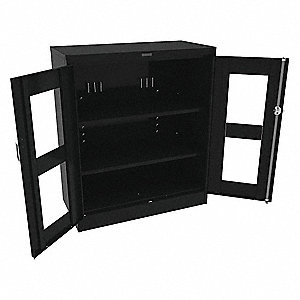 "Commercial Storage Cabinet, Black, 42"" H X 36"" W X 18"" D, Unassembled"