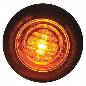 Clearance Light,LED,Amber,Round,3/4 Dia
