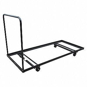 "74""L x 31""W x 43""H Black Folding Table Dolly, 1000 lb. Load Capacity"