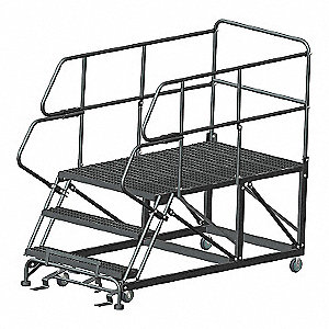 Roll Work Platform,Steel,Single,30 In.H