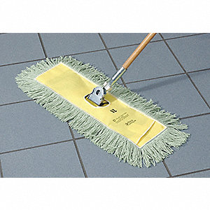 "Dust Mop Handle, Clip On, 60""L"