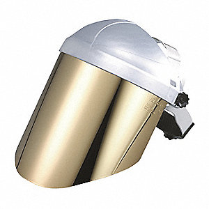 Faceshield Visor,Plycrb,Gld,7-1/2x15-1/2
