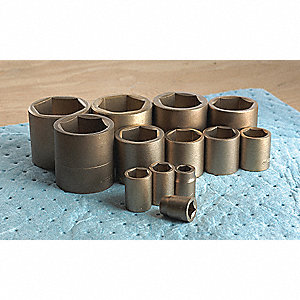 "19/32"" Aluminum Bronze Socket with 1/2"" Drive Size and Natural Finish"