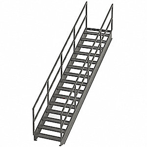 Stair Unit,Carbon Steel,16 Steps