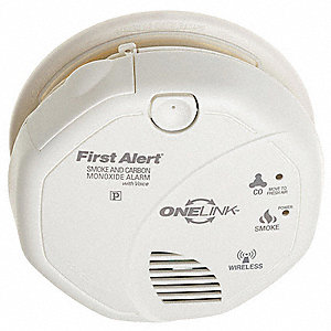 "5"" Smoke and Carbon Monoxide Alarm with 85dB @ 10 ft., Siren Audible Alert&#x3b; (2) AA"