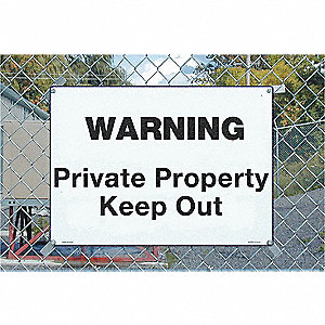 Warning Sign,14 x 20In,BK/WHT,AL,ENG