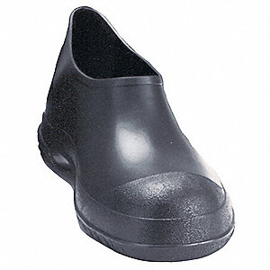 "5""H Men's Overshoes, Plain Toe Type, PVC Upper Material, Black, Size XL"