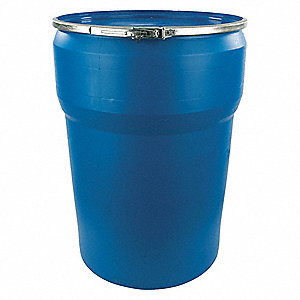 47 gal. Blue Polyethylene Open Head Transport Drum