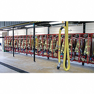 Red Powder-Coat Turnout Gear Storage Rack, Wall Mount Mounting, Number of Sides: 1