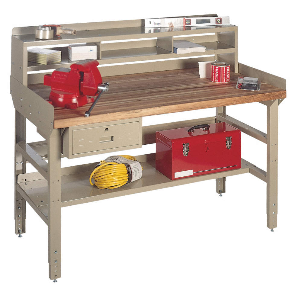 Miraculous Bolted Workbench With Riser Laminate 36 Depth 30 To 34 Height 72 Width 5000 Lb Load Capaci Pdpeps Interior Chair Design Pdpepsorg