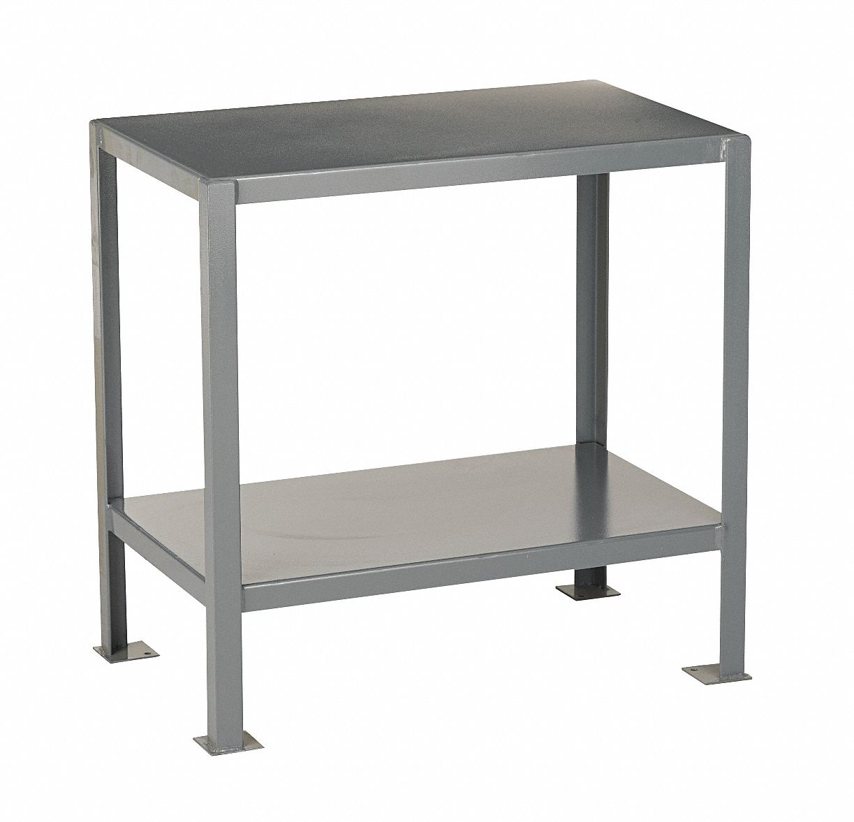 Fixed Height Work Table, Steel, 18 in Depth, 30 in Height, 24 in Width,2,000 lb Load Capacity