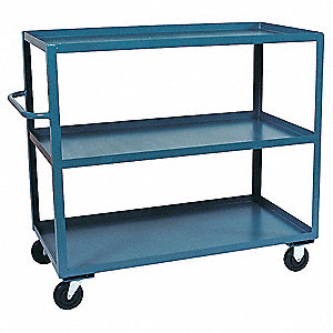 Stock Cart,3000 lb.,3 Shelf,60 in. L