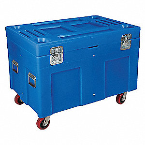 Poly Site Box,Blue,15 cu. ft.,45 In.