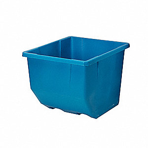 Tilt Box, Polyethylene, 600 lb. Load Capacity