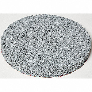 "Gray Rubber Stepping Stone, Recycled Rubber, 13"" dia., Diameter 13"", Thickness 1-1/4"""