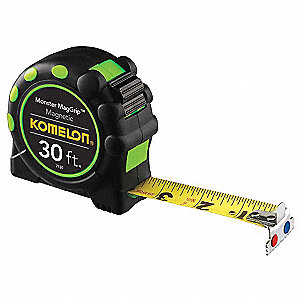 30 ft. Steel SAE Magnetic Tip Tape Measure, Black