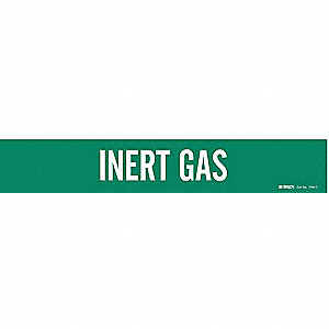 Pipe Marker, Inert Gas, Gn, 2-1/2to7-7/8 In