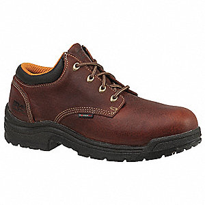 "4""H Men's Work Boots, Alloy Toe Type, Leather Upper Material, Brown, Size 10-1/2W"