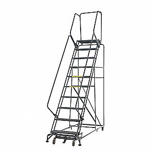 Stock Picking Roll Ladder,Steel,80 In.H