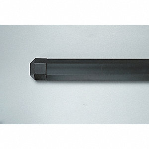 "Wall Protection Guard, Black, EPDM Rubber, Aluminum, 144"" Length, 2-1/4"" Height, 1.00"" Thickness"