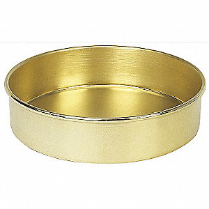 Pan, Brass, 8 In, Full Ht